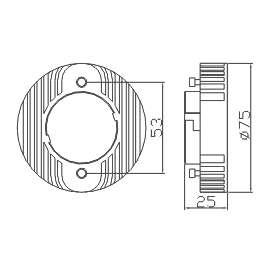 GX53 6w cabinet light cad